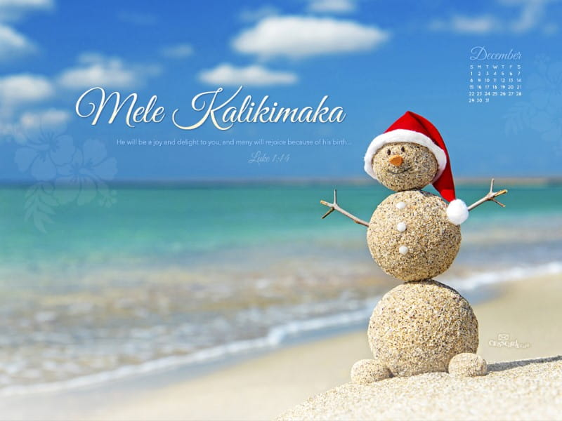 December 2013 - Mele Kalikimaka mobile phone wallpaper