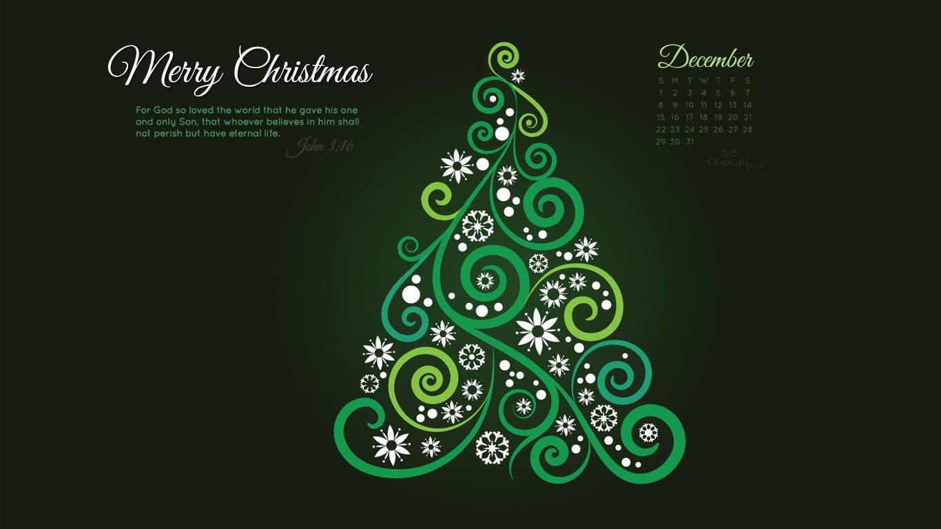 December 2013 - John 3:16 Desktop Calendar- Free December ...