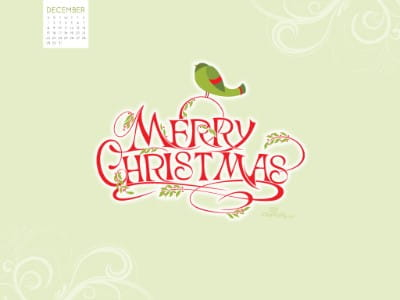 December 2013 - Merry Christmas mobile phone wallpaper