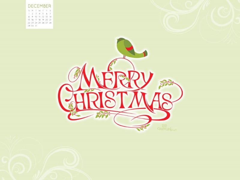 December 2013 - Merry Christmas mobile phone wallpaper