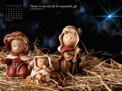 December 2013 - Nativity mobile phone wallpaper