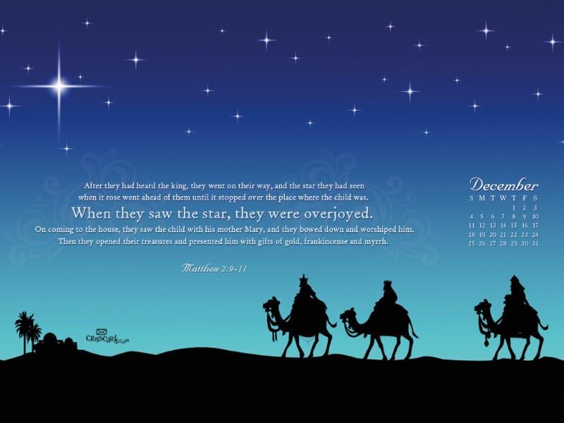 Dec. 2011 - Matt. 2:9-11 mobile phone wallpaper