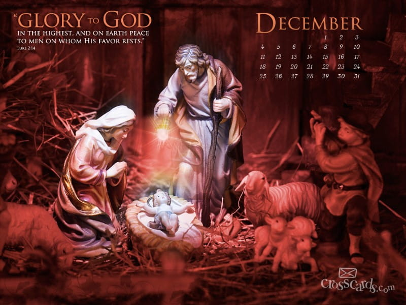 Dec. 2011 - Luke 2:14 mobile phone wallpaper