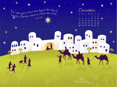 Dec. 2011 - Luke 2:11 mobile phone wallpaper