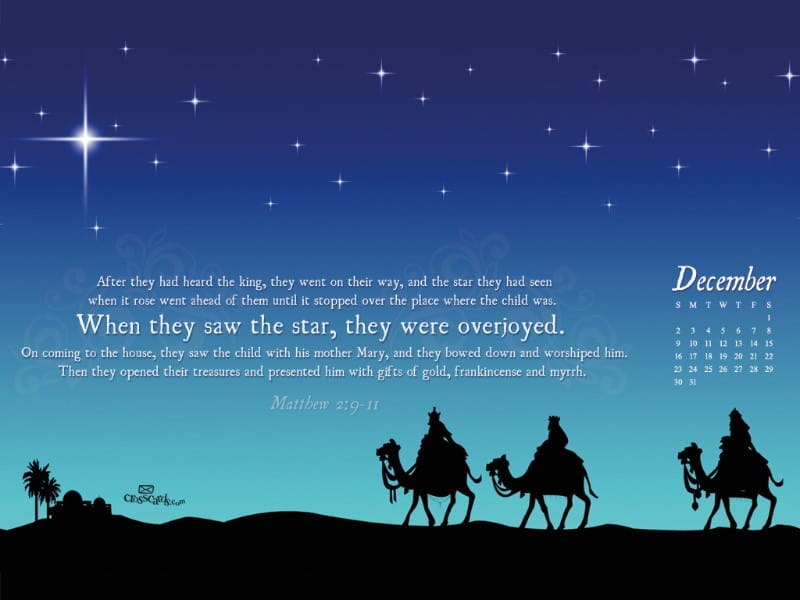 Dec 2012 - Wise Men mobile phone wallpaper