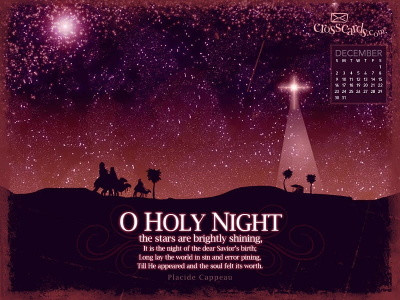 Dec 2012 - Holy Night mobile phone wallpaper