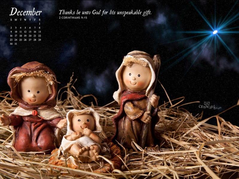 Dec 2012 - Nativity mobile phone wallpaper