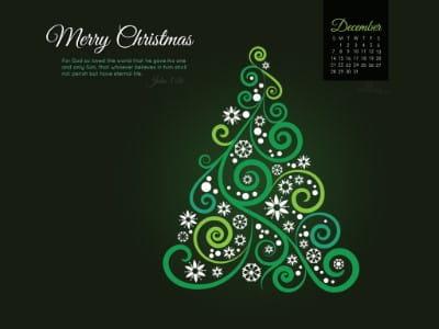 December 2014 - John 3:16 mobile phone wallpaper