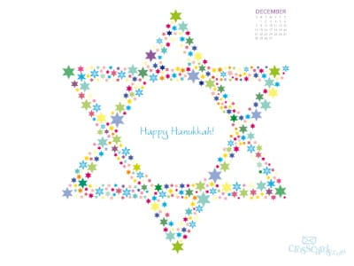December 2014 - Happy Hanukkah mobile phone wallpaper