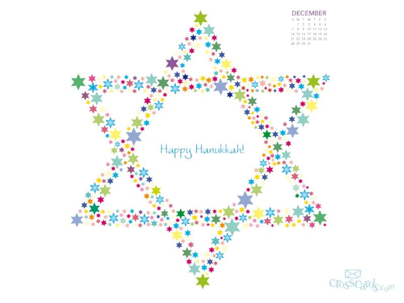 December 2014 - Happy Hanukkah mobile phone wallpaper
