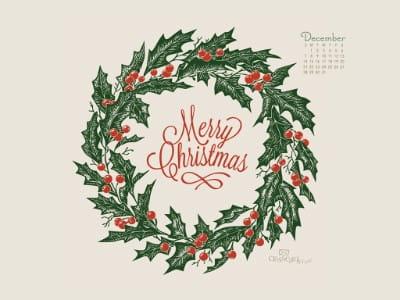 December 2014 - Merry Christmas mobile phone wallpaper