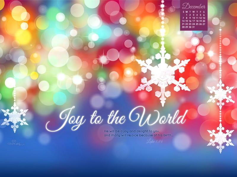 December 2014 - Joy to the World mobile phone wallpaper