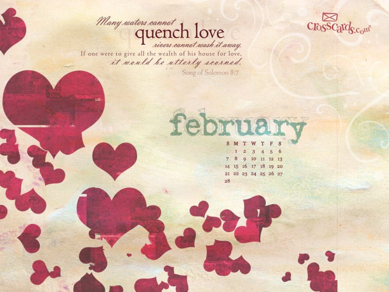 February 2010 - Hearts mobile phone wallpaper