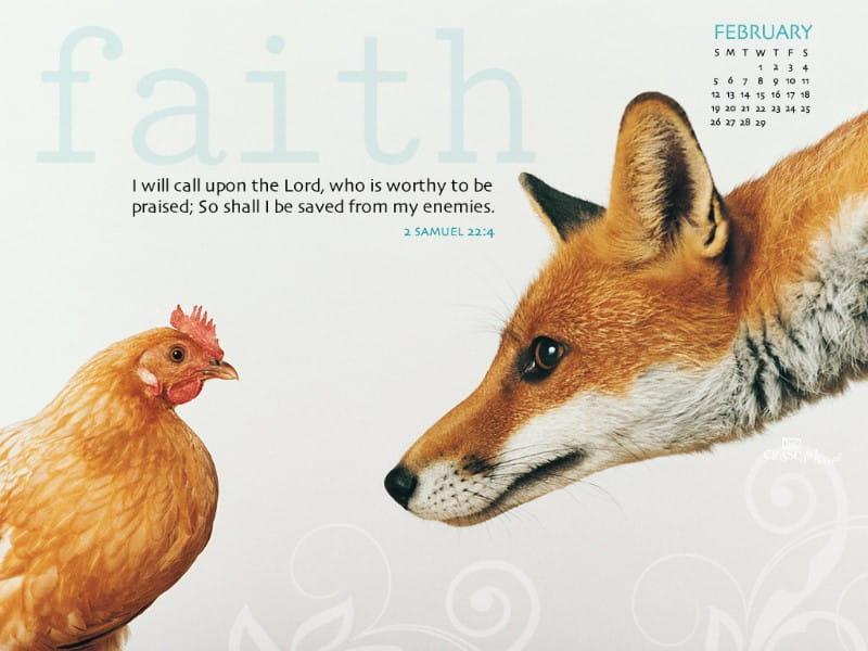 Feb 2012 - Faith mobile phone wallpaper