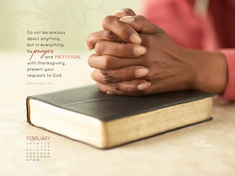 Feb 2012 - Prayer mobile phone wallpaper