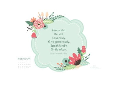 February 2014 - Thankful Life mobile phone wallpaper