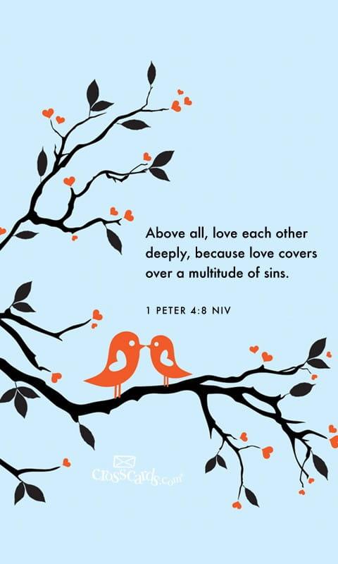 Feb 2013 - 1 Peter 4:8 NIV Desktop Calendar- Free February ...