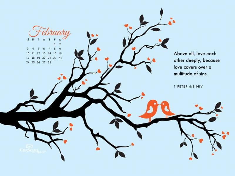 Feb 2013 - 1 Peter 4:8 NIV mobile phone wallpaper