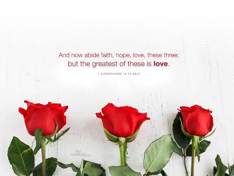 Faith Hope Love mobile phone wallpaper