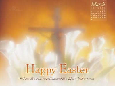 March 2013 - John 11:25 mobile phone wallpaper