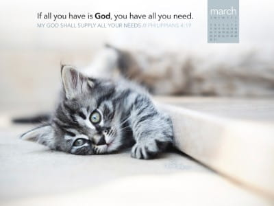 March 2014 - God Supply Needs mobile phone wallpaper