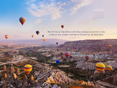 March 2015 - Romans 15:13 mobile phone wallpaper
