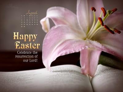 April 2012 - Happy Easter mobile phone wallpaper