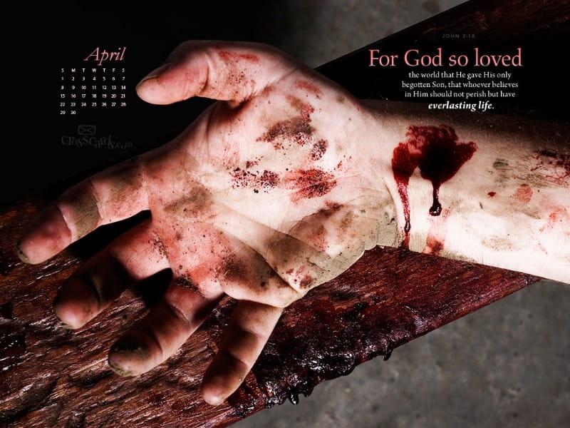 April 2012 - John 3:16 mobile phone wallpaper