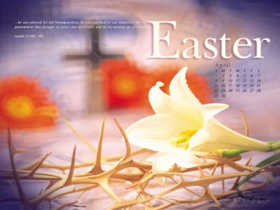 April 2012 - Easter mobile phone wallpaper