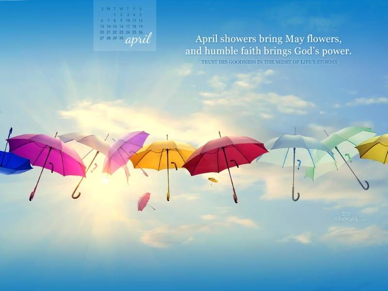 April 2014 - God's Power mobile phone wallpaper