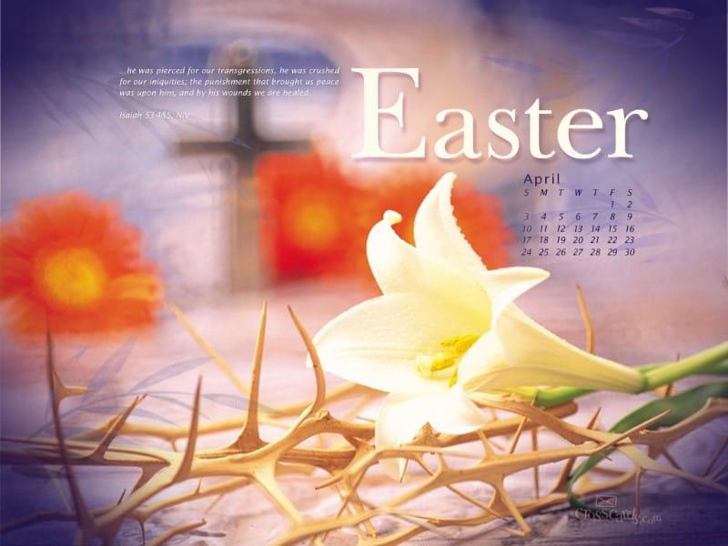 April 2011 - Easter mobile phone wallpaper