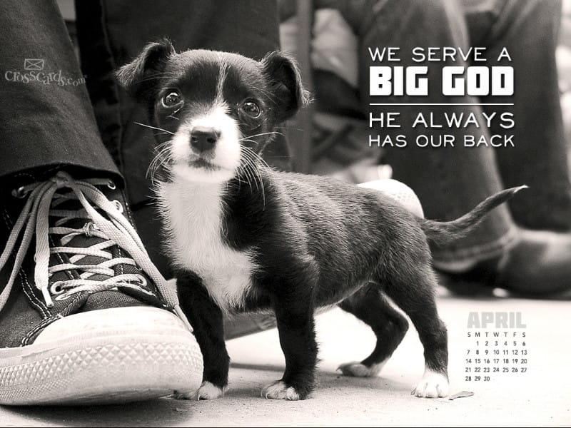 April 2013 - Big God mobile phone wallpaper