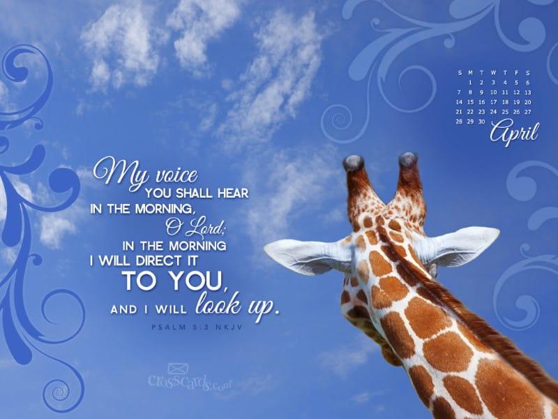 April 2013 - Psalm 5:3 NKJV mobile phone wallpaper