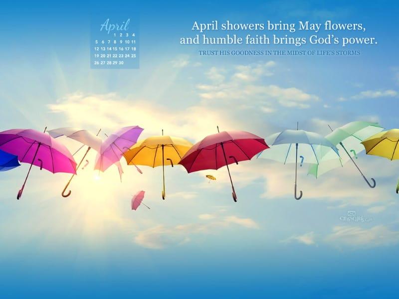 April 2015 - God's Power mobile phone wallpaper