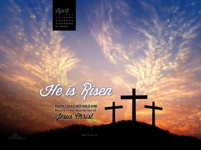 April 2015 - He is Risen mobile phone wallpaper