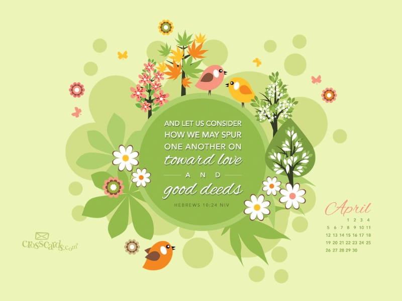 April 2015 - Good Deeds mobile phone wallpaper