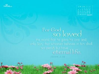 May 2012 - John 3:16 mobile phone wallpaper