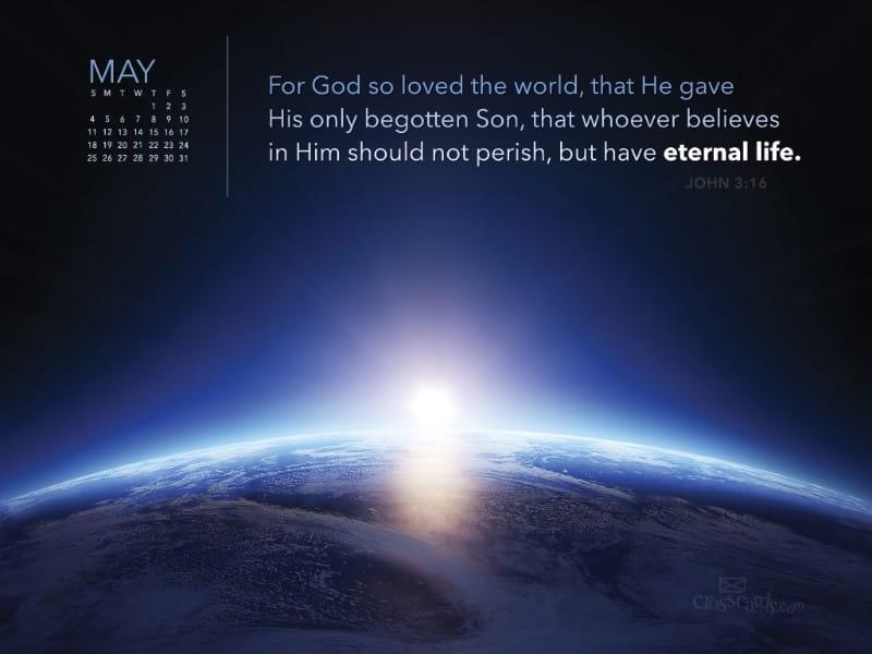 May 2014 - John 3:16 mobile phone wallpaper