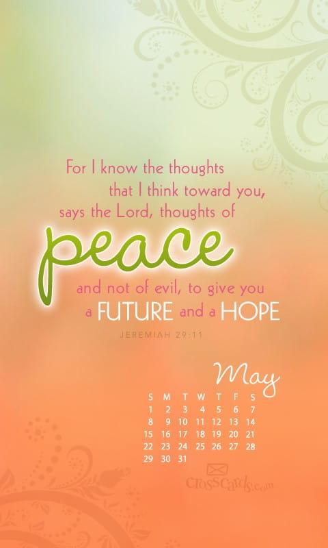 May 2011 Jeremiah 29 11 Desktop Calendar Free May Wallpaper