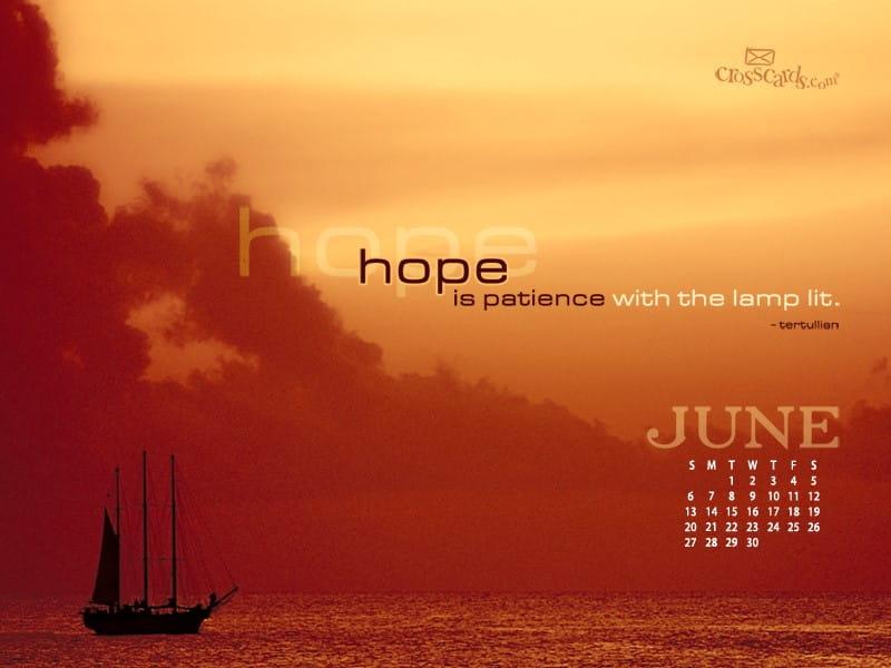 June 2010 - Hope mobile phone wallpaper