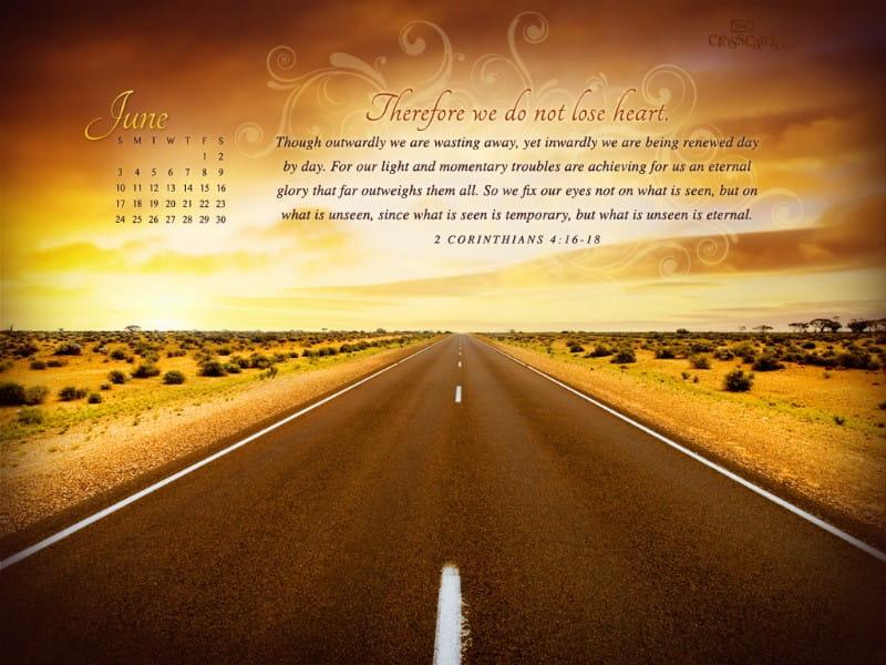 June 2012 - 2 Cor. 4:16-18 mobile phone wallpaper
