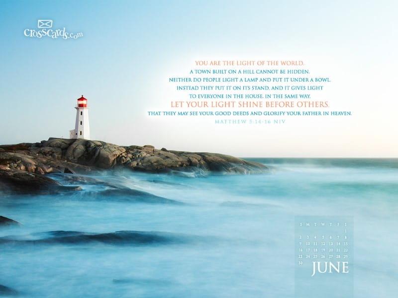 June 2013 - Matthew 5:14-16 NIV mobile phone wallpaper