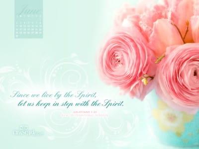 June 2013 - Galatians 5:25 NIV mobile phone wallpaper