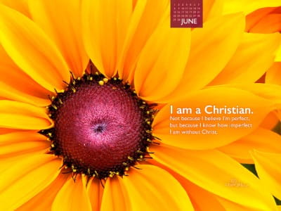 June 2014 - I am a Christian mobile phone wallpaper