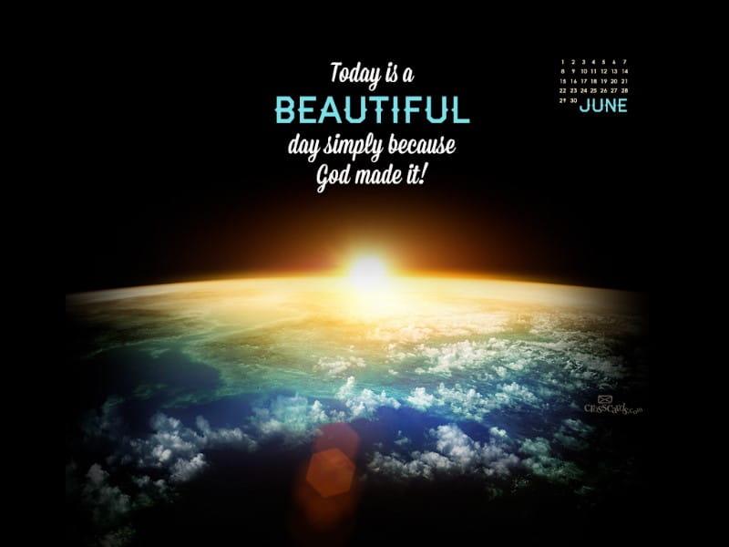 June 2014 - Beautiful Day mobile phone wallpaper