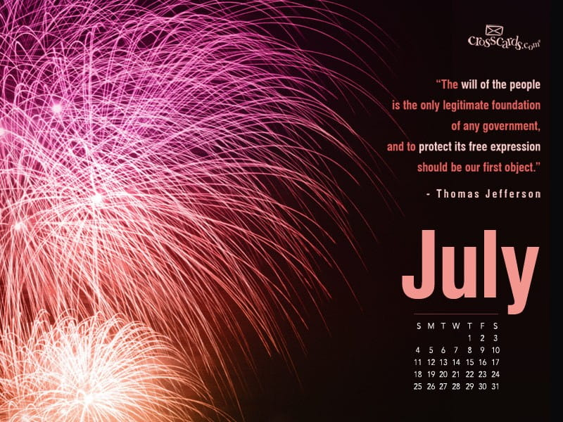 July 2010 - Fireworks mobile phone wallpaper