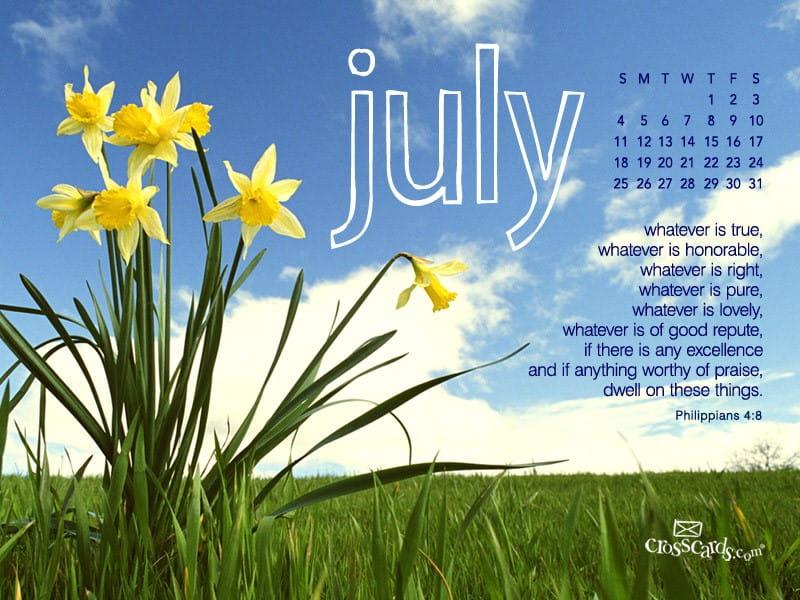 July 2010 - Daffodils  mobile phone wallpaper