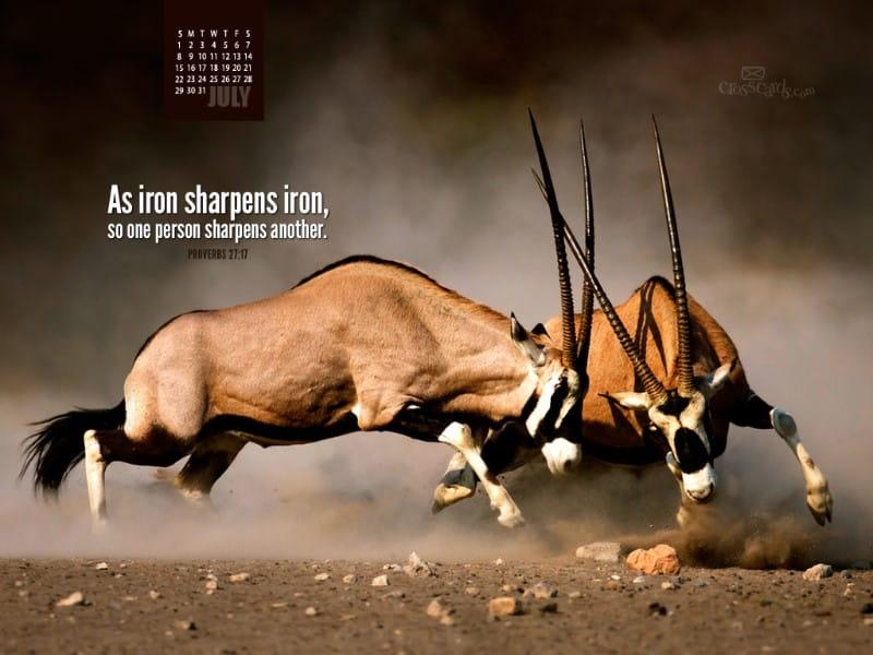 July 2012 - Iron Sharpens Iron mobile phone wallpaper