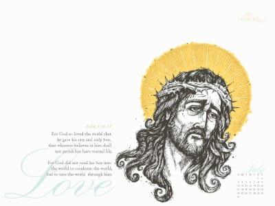July 2011 - John 3:16-17 mobile phone wallpaper