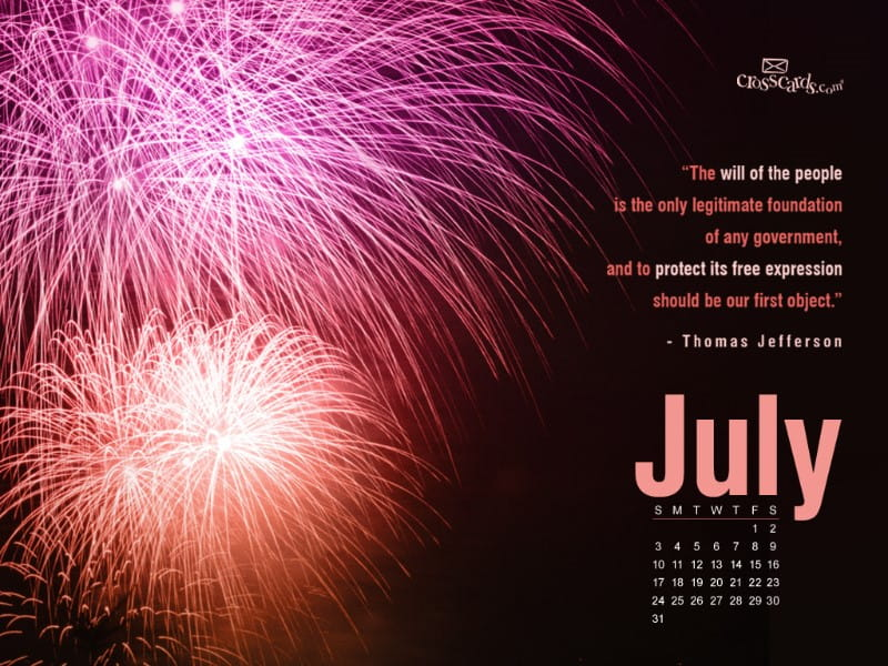 July 2011 -  Fireworks mobile phone wallpaper